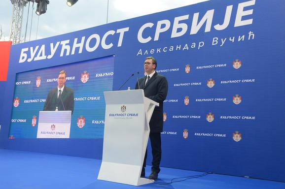 Vučić u Kruševcu: Neću dozvoliti da lopovi i pljačkaši vrate Srbiju u prošlost