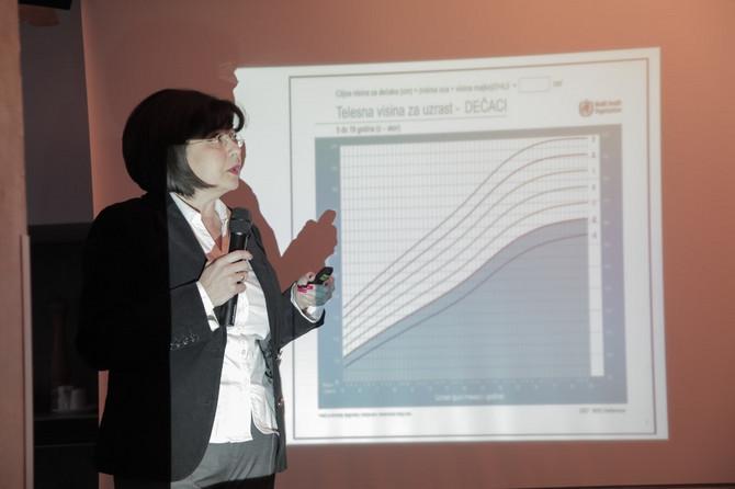 Dr Radmila Kosić pokazuje kartu rasta