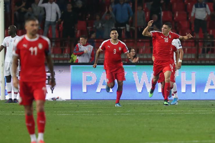 Reprezentativci Srbije na utakmici sa Portugalom