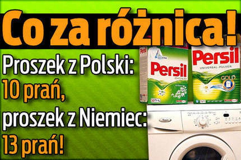Niemiecki proszek-13 prań, polski tylko 10!