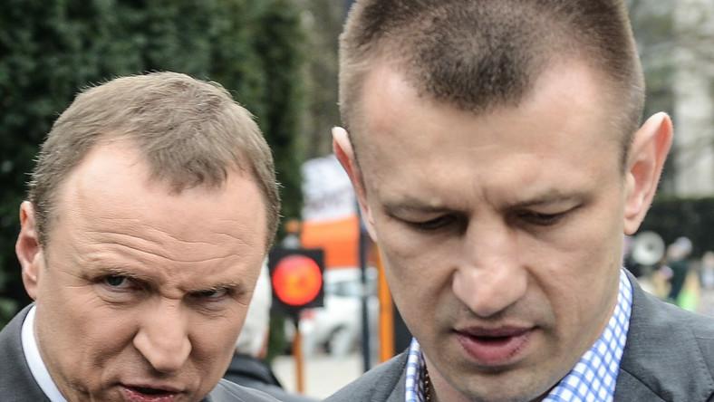Jacek Kurski i Tomasz Adamek