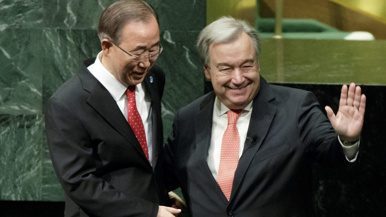 Antonio Guterres i poprzedni szef ONZ Ban Ki-Moon