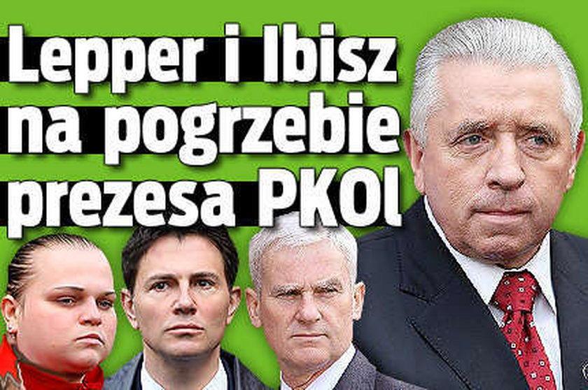 Lepper i Ibisz na pogrzebie prezesa PKOl