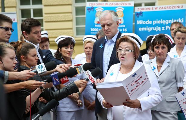 protest pielęgniarek w Warszawie