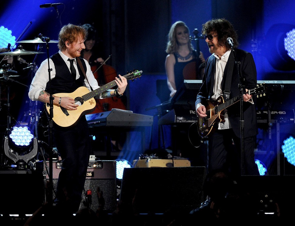 Ed Sheeran i Jeff Lynne na Grammy 2015