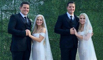 """Bliźniaczki poślubiły bliźniaków w """"mieście bliźniaków"""""""