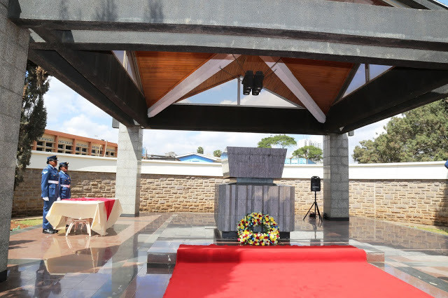 Inside Mzee Jomo Kenyatta's mausoleum along Parliament Road. His body was exhumed 3 months after burial - Lt Gen (Rtd) Daniel Opande writes in his book