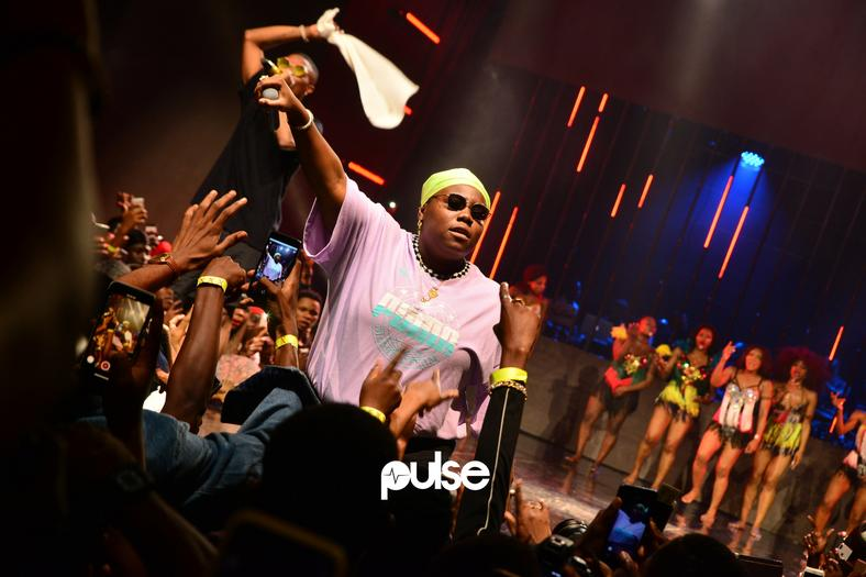 Teni performing at WIZKID VIP LIVE
