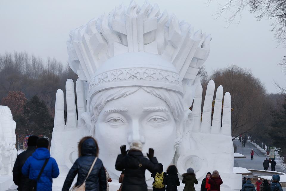 117-metrowa rzeźba zbudowana na festiwal w 2014 roku