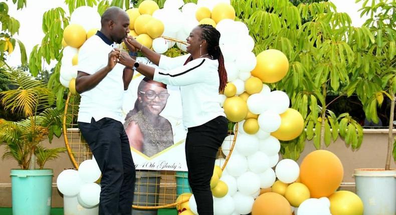 Elgeyo Marakwet Senator Kipchumba Murkomen threw his wife Gladys Wanjiru a birthday party as she turned 40 years old