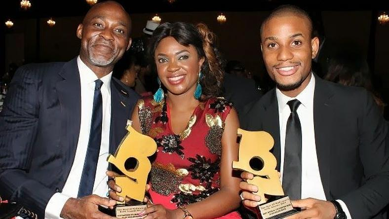 RMD, Omoni Oboli and Alexx Ekubo at 2013 BON awards