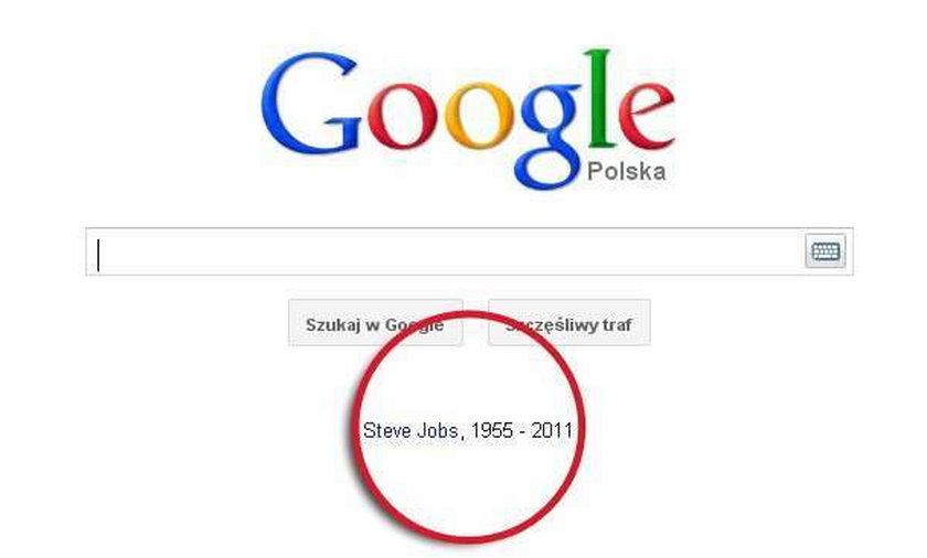 Google żegna Jobsa. Wzruszający gest w sieci...