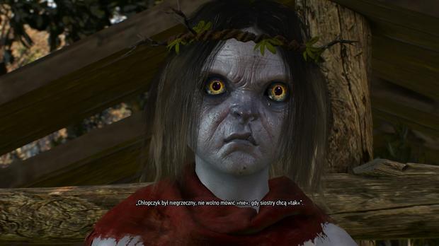 Wiedźmin 3: Dziki Gon - oto Janek, bardzo inteligentne i wygadane bożątko