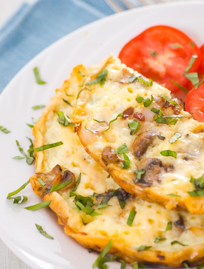 Omlet sa pečurkama i slaninom