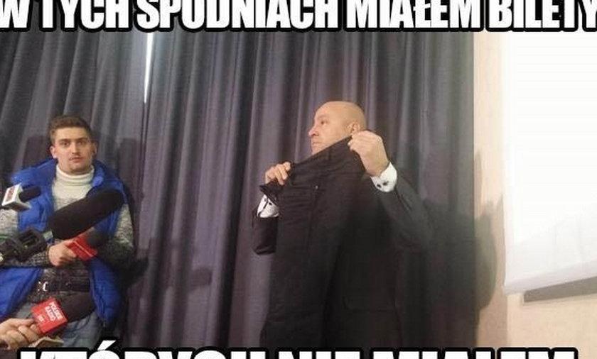 Memy z Grenia! Kibice komentują konferencję działacza!