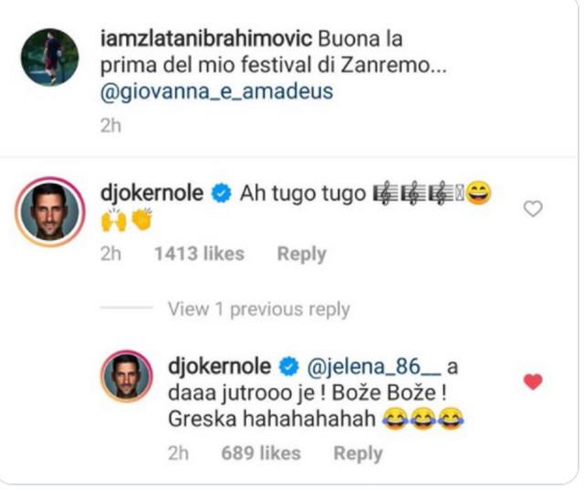 Komentar Novaka Đokovića