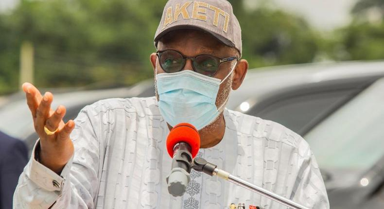 Ondo State governor, Rotimi Akeredolu says the unions are prohibited from collecting money from motorists [Twitter/@RotimiAkeredolu]