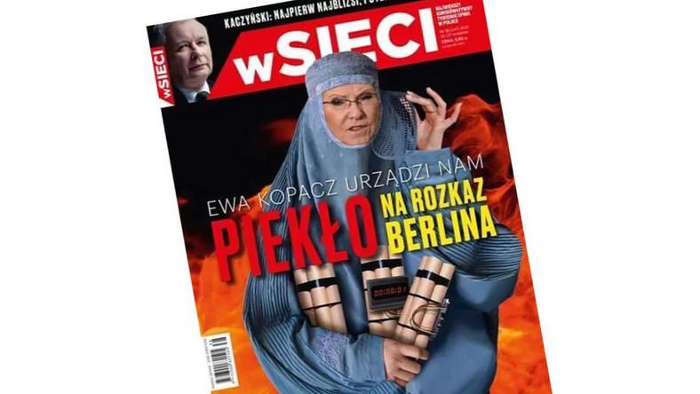 """Okładka tygodnika """"wSieci"""""""
