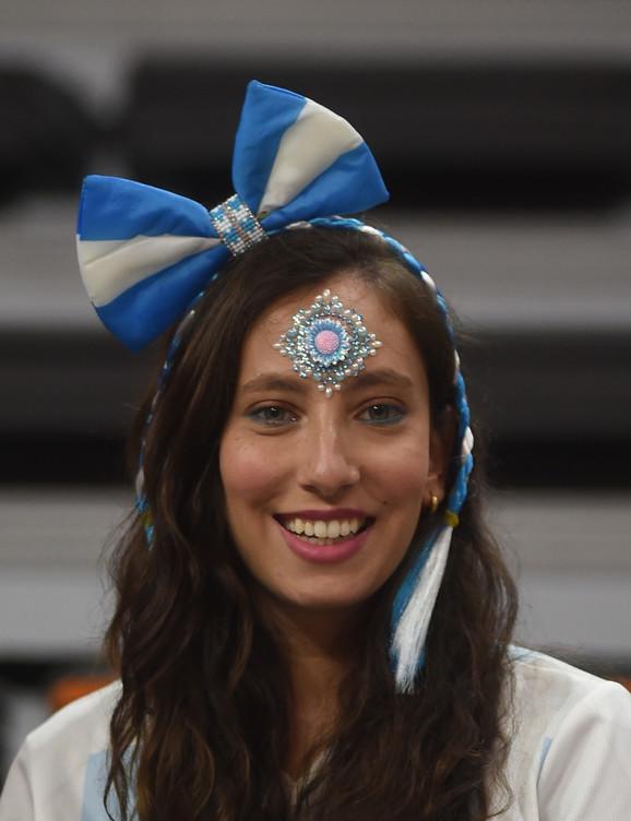 Navijačica Argentine na meču sa Srbijom
