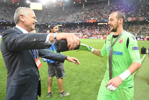 Zvezda Terzić i Milan Borjan su ovako slavili ulazak u Ligu šampiona