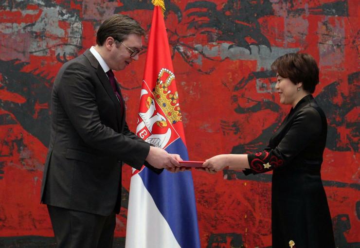 Aleksandar Vučić, nove ambasadorke Kine Cen Bo