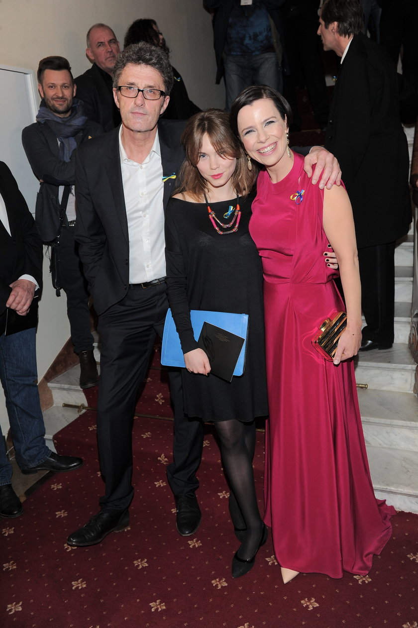Paweł Pawlikowski, Agata Trzebuchowska i Agata Kulesza w marcu 2014