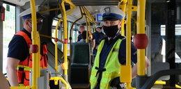 Uwaga pasażerowie, maseczki do kontroli!