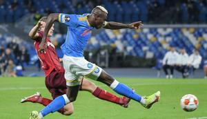 Victor Osimhen has scored four goals in three European games this term Creator: Tiziana FABI