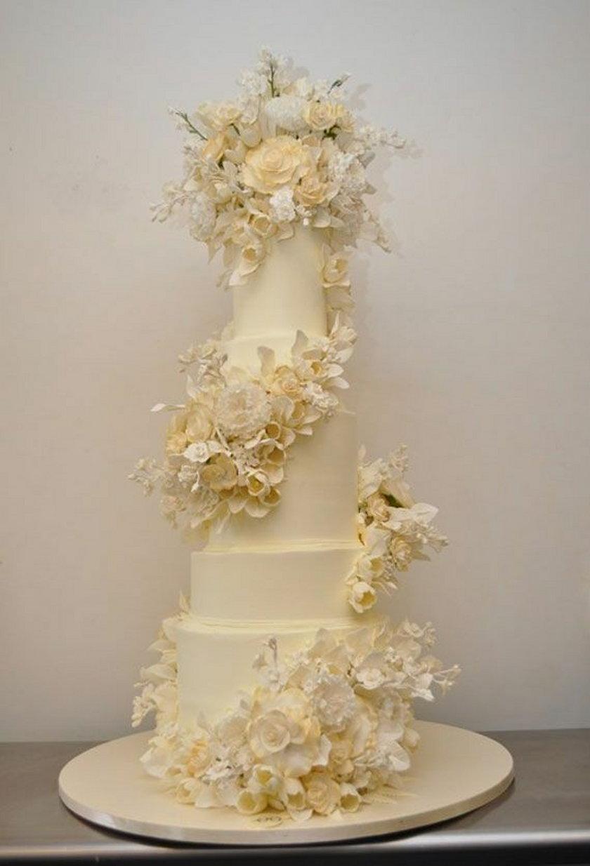 Tort ślubny Kesleya Grammera i Kayte Walsh