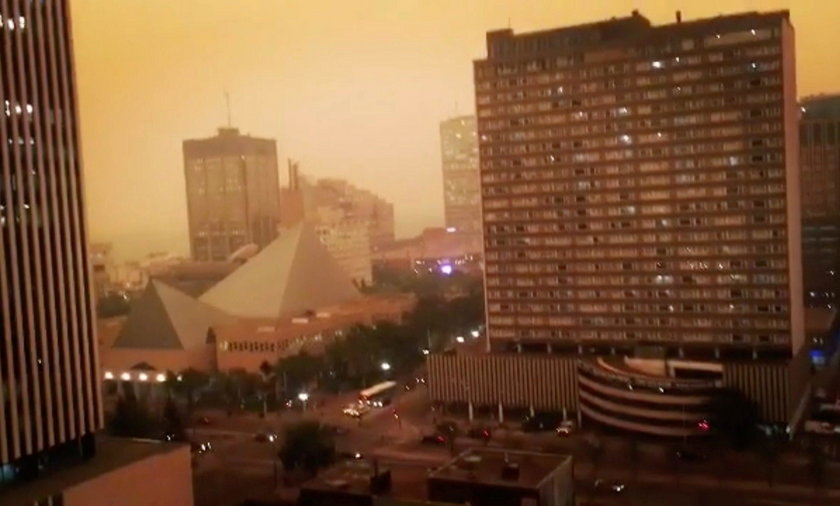 Groźne pożary trawią Kolumbię Brytyjską