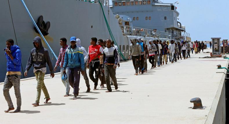 Migrants débarqués