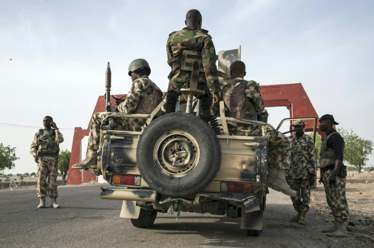 Nigerian troops have been battling the Boko Haram insurgency in the northeast for 10 years [AFP]