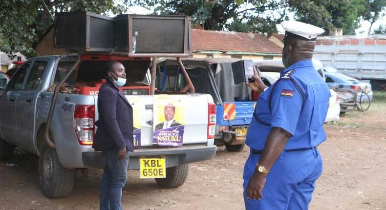 Police impound 3 Machakos County vehicles used by Maendeleo Chap Chap Senatorial Candidate to campaign