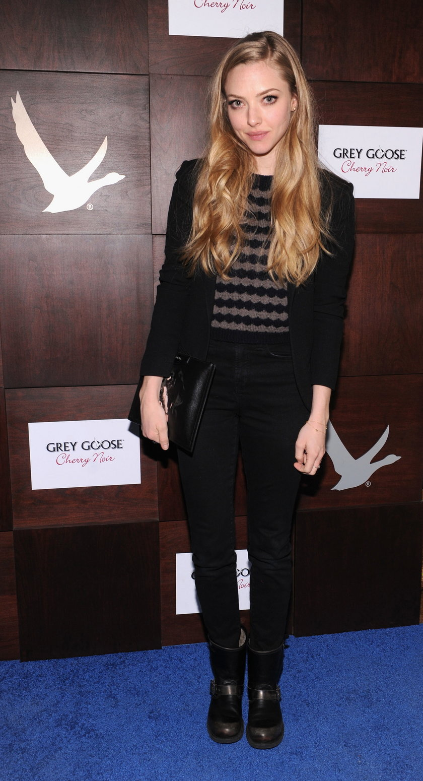 "Amanda Seyfried na premierze filmu ""Lovelace"""