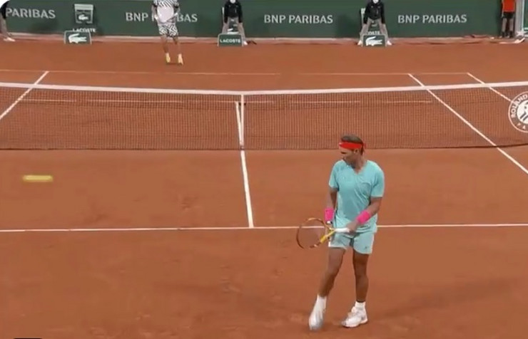 Rafael Nadal šutira lopticu