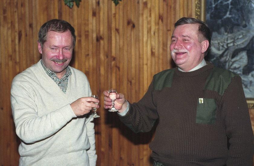 Lech Wałęsa i Janusz Onyszkiewicz