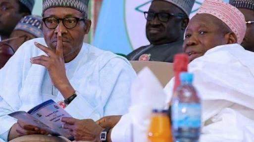 President Buhari (L) and Governor Umar Ganduje (R)