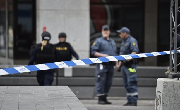 Policja na miejscu zdarzenia w Sztokholmie