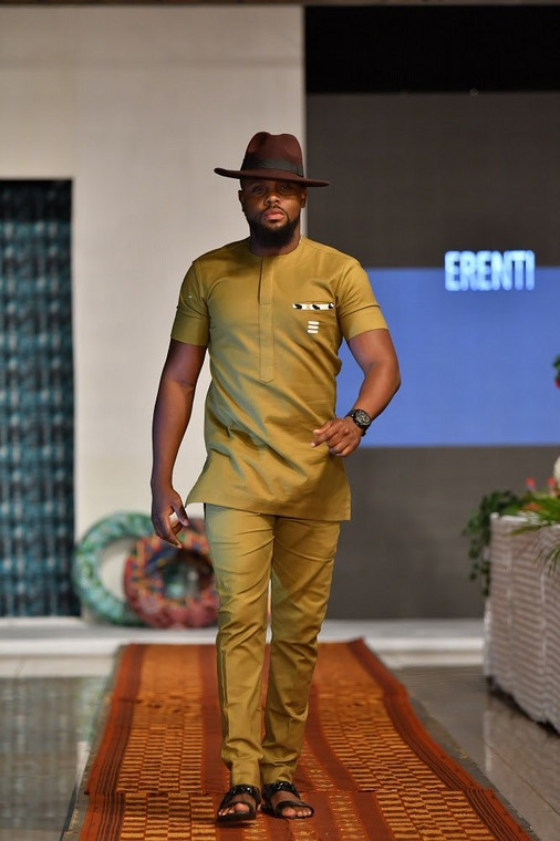 Melvin Oduah wearing Erenti Collection