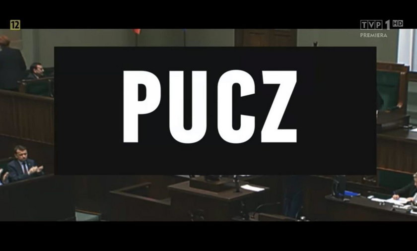 """Kadr z filmu """"Pucz"""" przygotowanego przez TVP"""