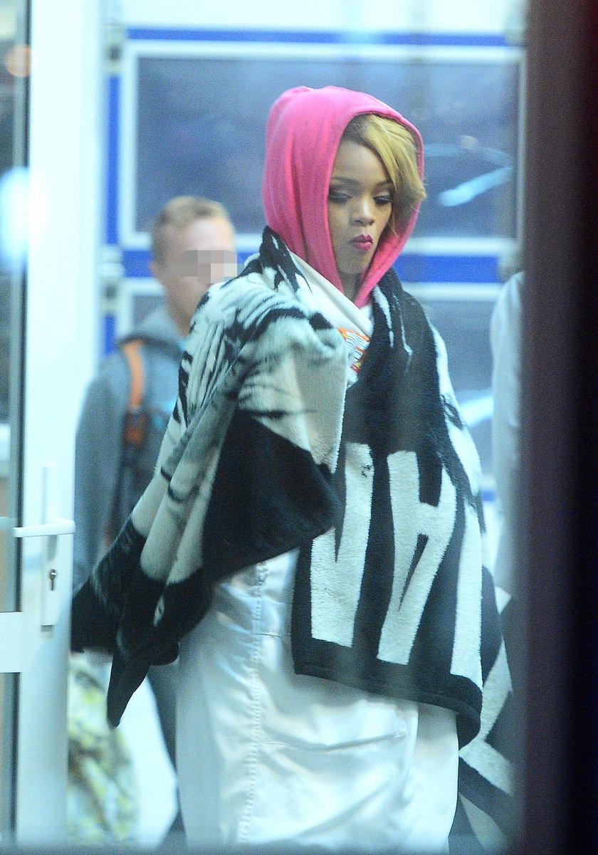 Rihanna na lotnisku w Gdańsku