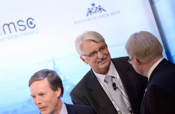 Witold Waszczykowski podczas konferencji w Monachium