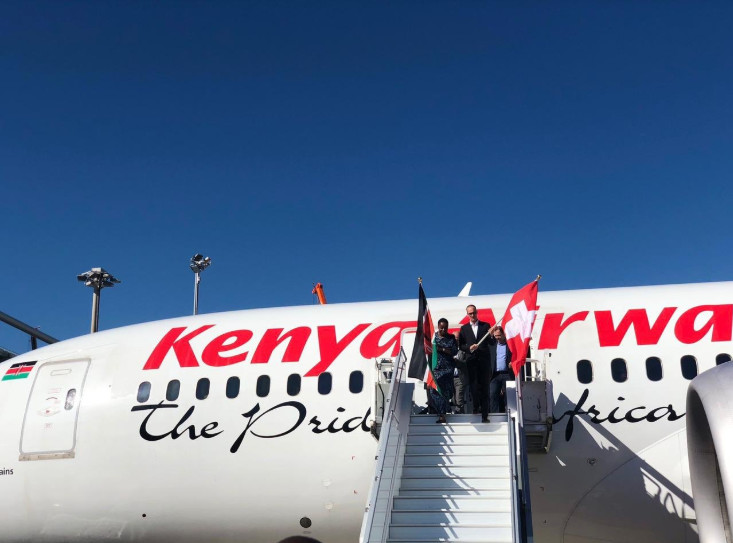 Kenya Airways at the Genève airport in Geneva Switzerland