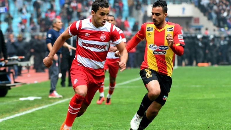 Ghazi Ayadi (L) converted two penalties for Club Africain from Tunisia in a CAF Champions League group match against Ismaily in Egypt Friday that was abandoned due to crowd trouble