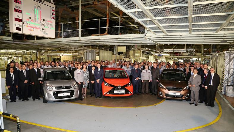 Toyota aygo, peugeot 108 i citroen C1 w produkcji