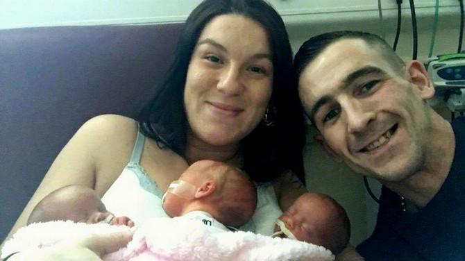 Stefani i Majkl sa decom