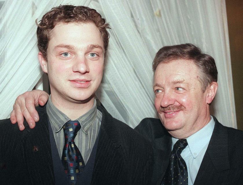 Grzegorz Damięcki z ojcem Damianem Damięckim