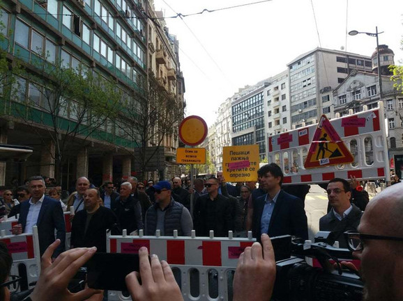 Protest u centru grada