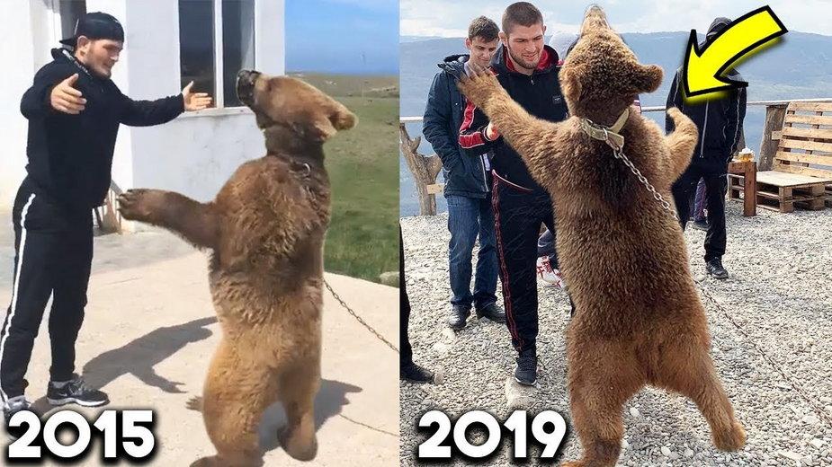 9-letni Khabib Nurmagomedov trenuje zapasy z niedźwiedziem. Przypominamy legendarne nagranie (WIDEO)