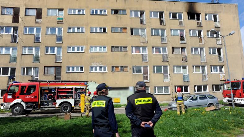 Pożar mieszkania w Koszalinie